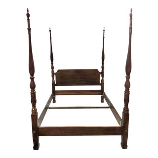 Mahogany Four Post Queen Bed Frame by Henredon For Sale
