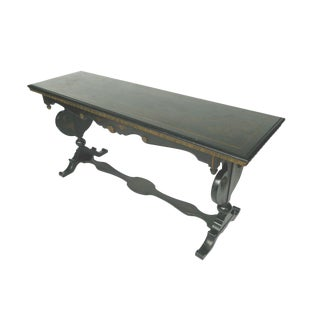 Chinoiserie Decorated Wooden Console Table