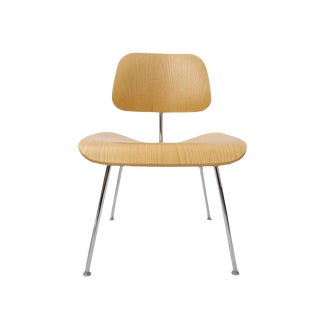 Charles Eames Dcm Bent Plywood & Steel Chair for Herman Miller in White Ash For Sale