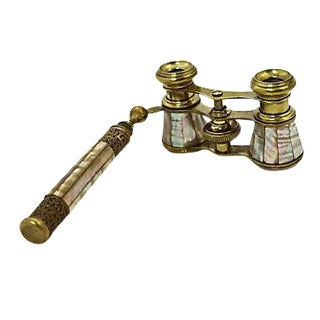 French Mother-of-Pearl Opera Glasses For Sale