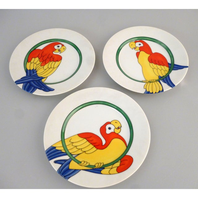 Fritz and Floyd Parrot in Ring Plates - 8 For Sale - Image 4 of 6