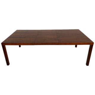 Danish Modern Rosewood Parsons Dining Room Table For Sale