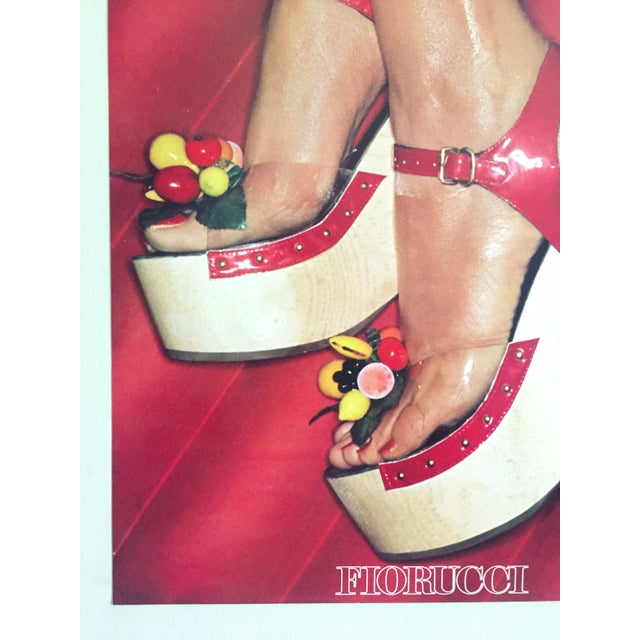 """Fiorucci Rare Original Vintage 1978 """" High Heels """" New Wave Italian Fashion Collector's Lithograph Print Pop Art Poster For Sale In Kansas City - Image 6 of 13"""