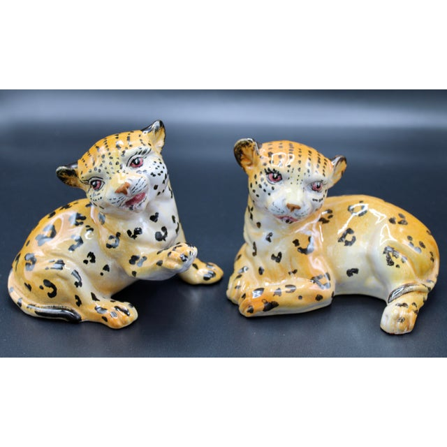 Mid-20th Century Italian Mottahedeh Terra Cotta Leopards - a Pair For Sale - Image 9 of 13