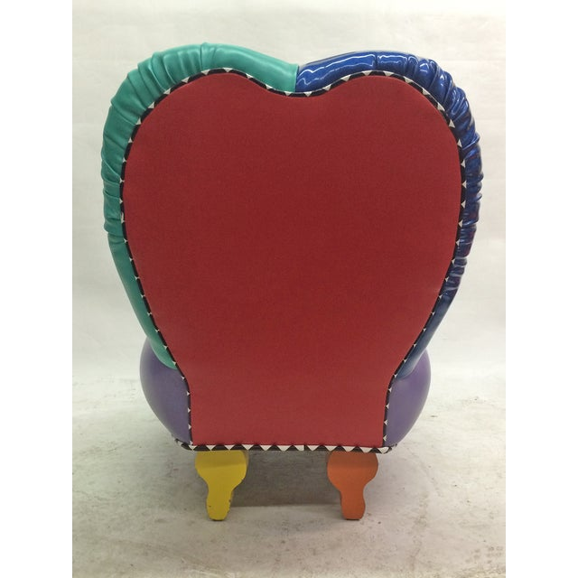 Memphis Inspired Slipper Chair by Harry Siegel For Sale - Image 4 of 7