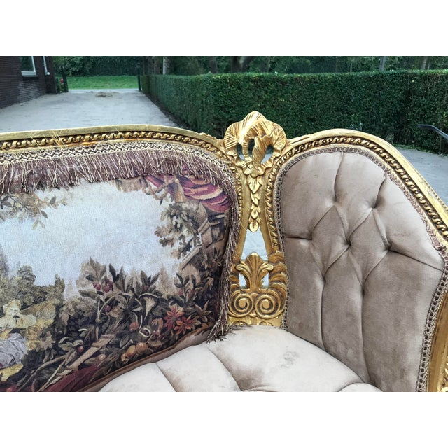 French Louis XVI Style Corbeille Sofa For Sale - Image 4 of 7