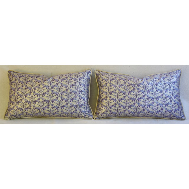 Designer Italian Mariano Fortuny Richelieu Feather/Down Pillows - a Pair - Image 7 of 11
