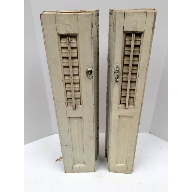 Vintage French Mini Trifold Shutters - A Pair For Sale In Dallas - Image 6 of 9