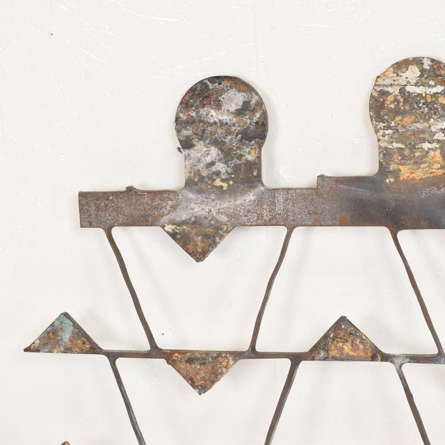 Gold Mexican Modernist Metal Art Room Divider Screen For Sale - Image 8 of 9