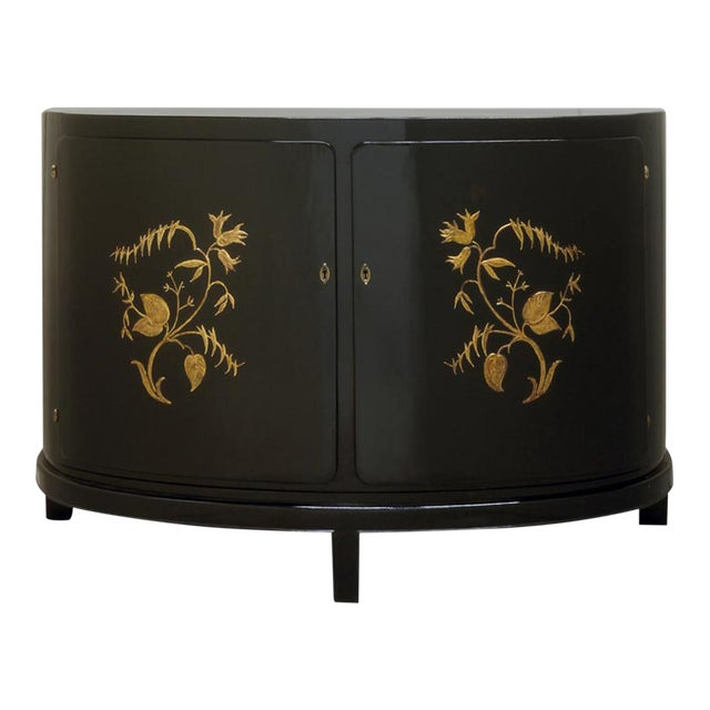 A GERMAN EXPRESSIONIST DEMILUNE CABINET - Image 1 of 4