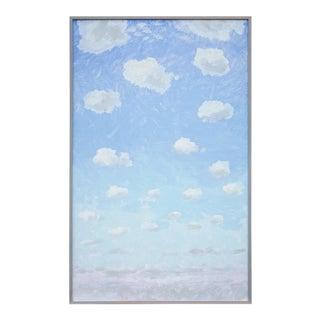 """Clouds"" Contemporary Tempera Painting by Tom Wise, Framed For Sale"