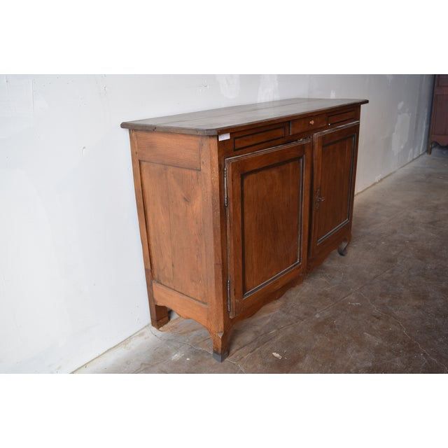 Country 18th Century Antique French Provincial Oak Buffet For Sale - Image 3 of 9