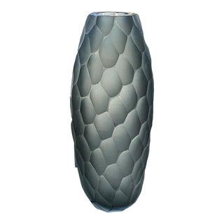 21st Century Alberto Dona Murano Smoked Tapered Vase For Sale