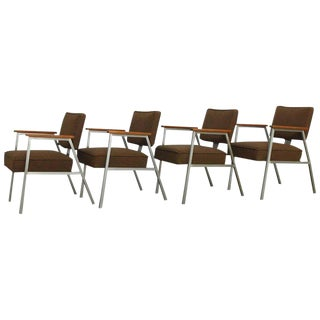 McDowell Mid-Century Steel Armchairs - Set of 4