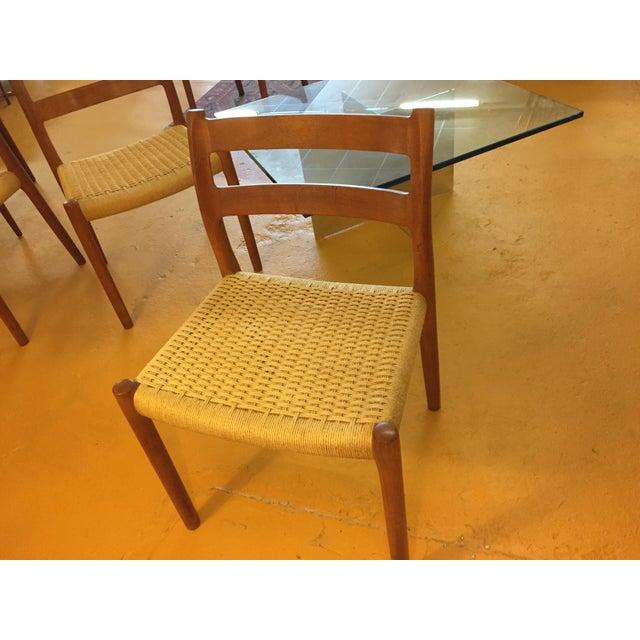 Niels Otto Møller for j.l. Møller Teak Dining Chairs, Model 84 - Set of 4 For Sale - Image 10 of 13