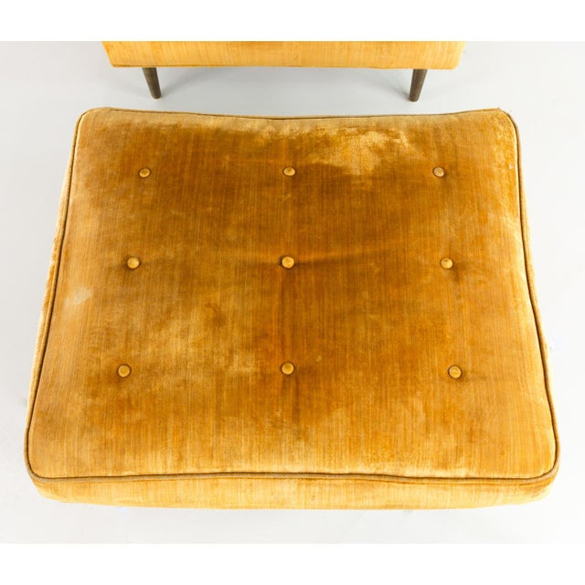 Mid Century Edward Wormley for Dunbar Chair and Ottoman For Sale In Chicago - Image 6 of 13