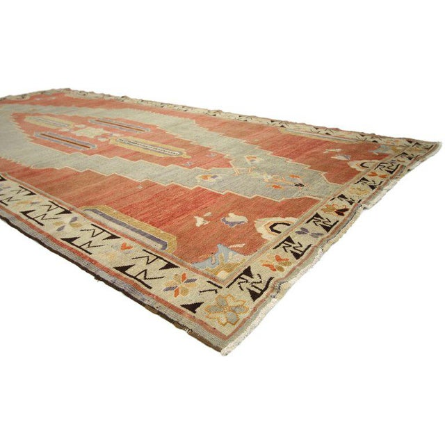 Early 20th Century Early 20th Century Antique Caucasian Tribal Rug - 4′9″ × 9′8″ For Sale - Image 5 of 7