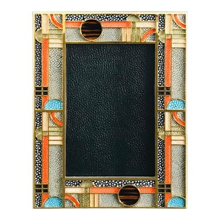 Multi-Color Shagreen Photo Frame by Fabio Ltd For Sale