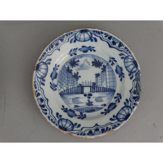 Antique Dutch Delft Chinoiserie Plates- A Pair - Image 4 of 7