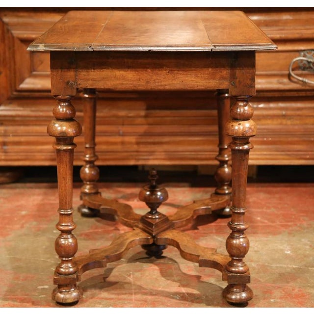 Wood Late 18th Century French Walnut Side Table For Sale - Image 7 of 10