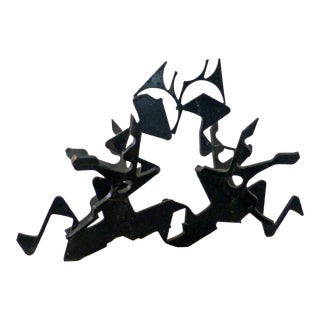 1960s Abstract Brutalist Large Welded Modernist Sculpture For Sale