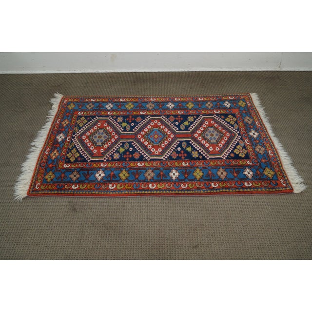 Quality Hand Tied Caucasian Rug AGE/COUNTRY OF ORIGIN: Approx 40 years, Middle East DETAILS/DESCRIPTION: High quality,...