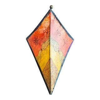 Parchment African Art Wall Sconce For Sale