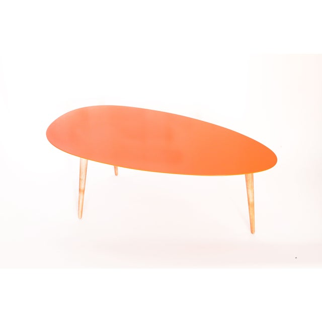 Large Egg Table - Orange - Image 2 of 3