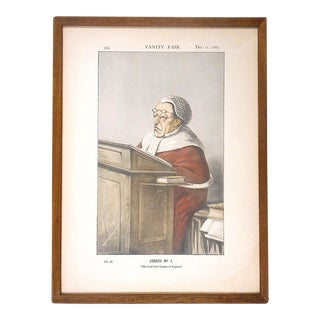 "Antique Vanity Fair Lithograph by Ape-Red Robed Judge-""Lord Chief Justice of England"""