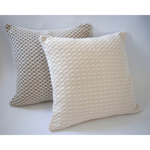 Cloud Bobble Heavy Woven Pillow Cover For Sale - Image 4 of 5