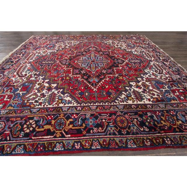 """Apadana - Vintage Persian Heriz Rug, 8' x 8'9"""" - Image 7 of 7"""