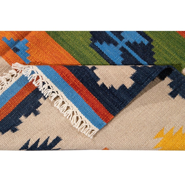 Contemporary 21st Century Modern Kilim Rug 5' 6'' X 8' 1'' For Sale - Image 3 of 12