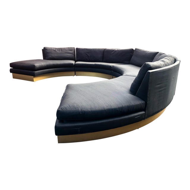 1960s Vintage Erwin Lambeth Sectional Sofa For Sale