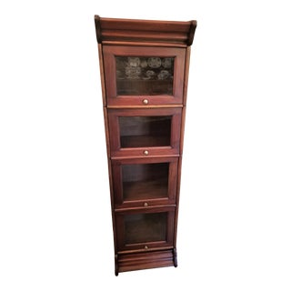 William IV Style Teak Barristers Bookcase of Neat Proportions For Sale