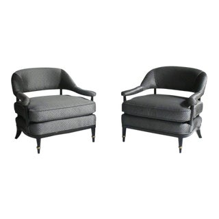 Pair of Billy Haines Style Lounge Chairs For Sale