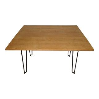 Vintage Drop-Leaf Dining Table For Sale