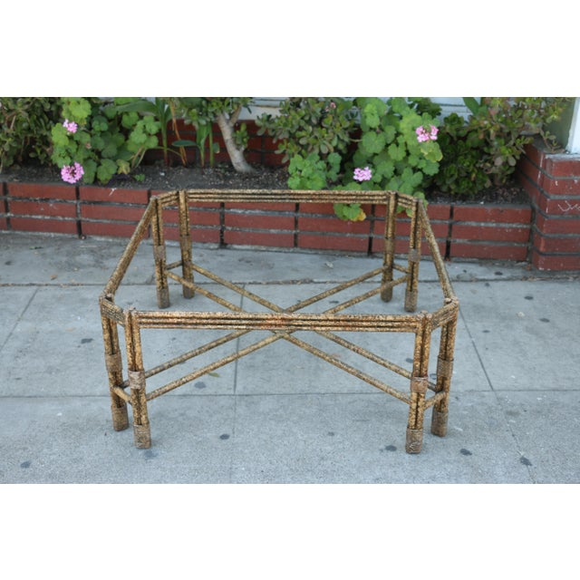 Metal Distressed Rustic Coffee Table For Sale - Image 9 of 10