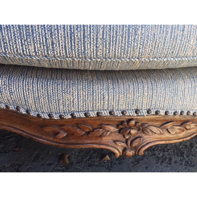 18th Century French Walnut Camel Back Sofa For Sale - Image 10 of 13