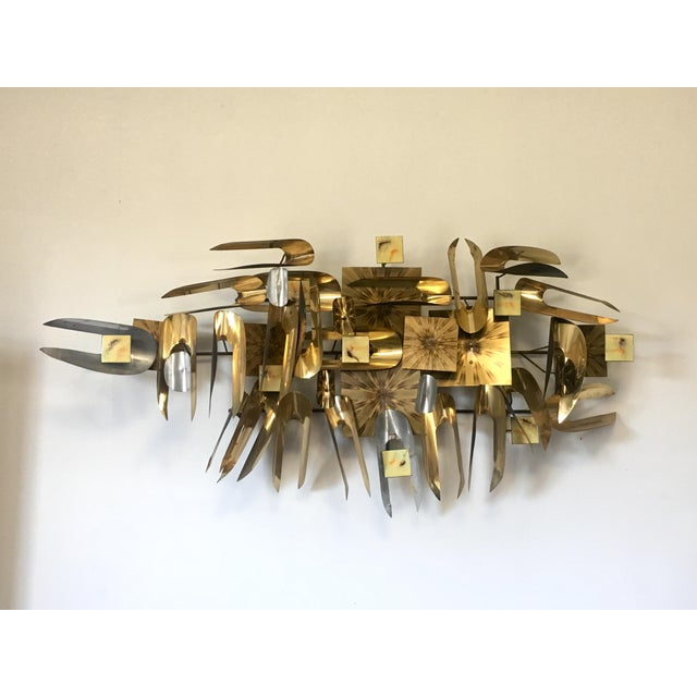 William Vose Mid-Century Brass Wall Art Sculpture For Sale - Image 12 of 12