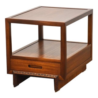 "Frank Lloyd Wright Mahogany ""Taliesin"" End Table For Sale"