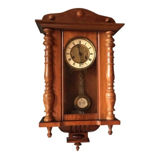 Antique German Wall Clock For Sale