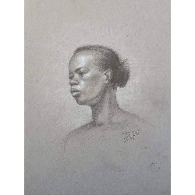 Original Graphite Life Sketch of Female Beauty - Image 3 of 4
