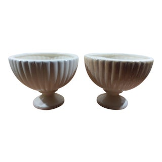 Haeger Pedestal Planters- Set of 2