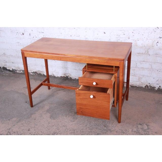 Gold Kipp Stewart for Drexel Declaration Mid-Century Modern Walnut Desk and Chair For Sale - Image 8 of 13
