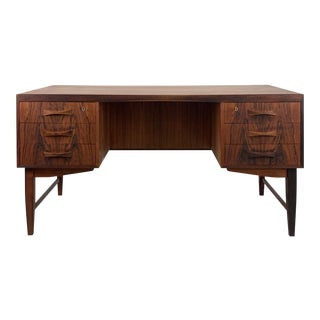 Vintage Danish Rosewood Desk For Sale