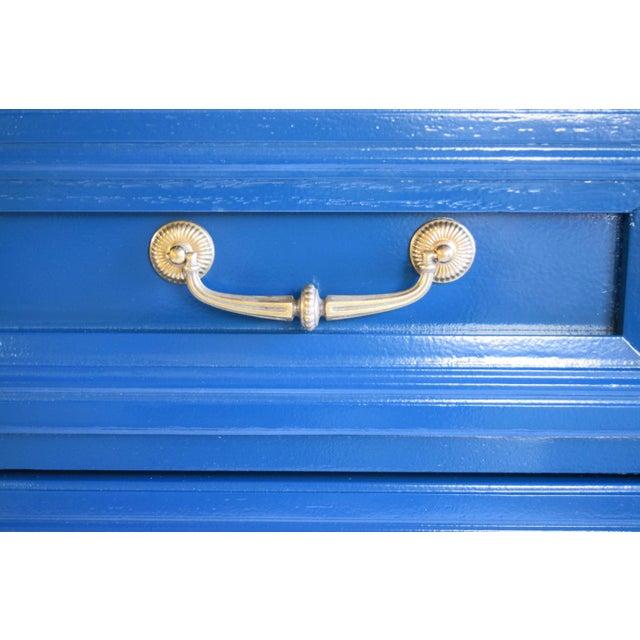 Vintage Blue Glossy Dresser For Sale In San Francisco - Image 6 of 10