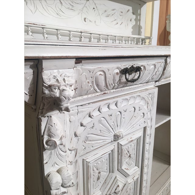 French Gothic Cabinet & Hutch - Image 8 of 8
