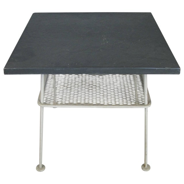 Vintage 1950s Sculptura Wrought Iron Table by Russell Woodard For Sale