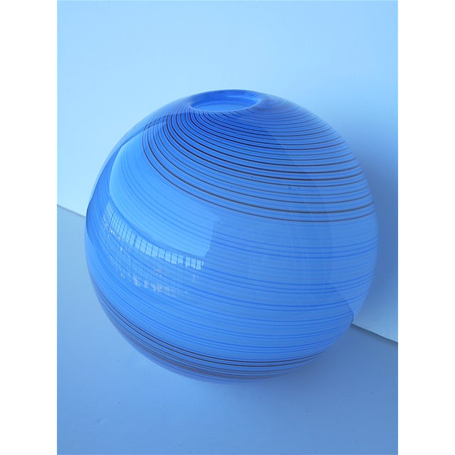 Vintage Hand Blown Globe Vase - Image 7 of 9