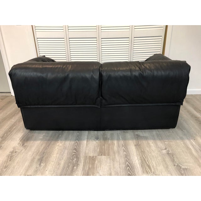 Vintage Niels Eilersen Leather Convertible Couch Sofa For Sale - Image 10 of 13